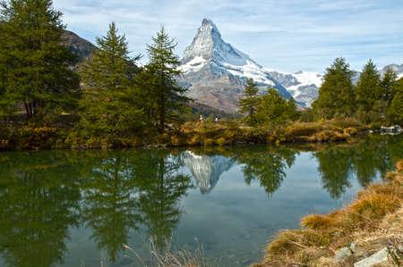 Swiss-Zermatt-Grindjisee-Cervino