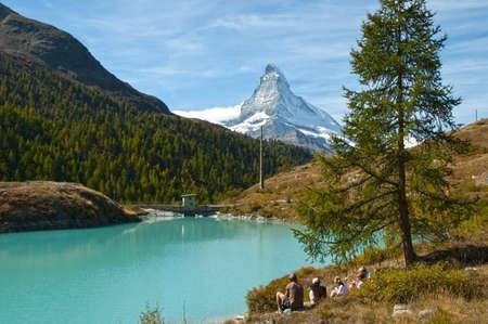 Swiss-Zermatt-Moosjisee-Cervino
