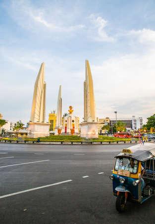 tuk tuk near Democracy Monument, Bangkok, Thailand