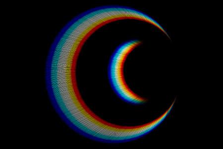 Photo pour Optical lens flare on black background. - image libre de droit