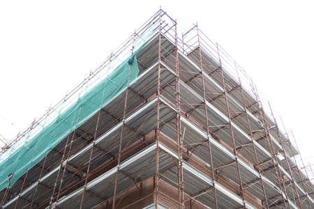 Foto de Detail of a building construction site. - Imagen libre de derechos