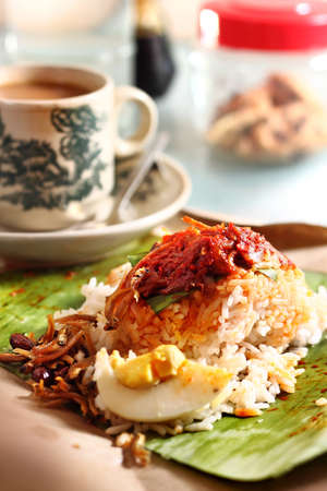 Nasi Lemak - Traditional Malaysian Breakfast