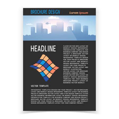 Illustration pour Brochure cover or web banner design. Vector illustration - image libre de droit