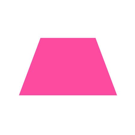 Photo pour pink trapezoid basic simple shapes isolated on white background, geometric trapezoid icon, 2d shape symbol trapezoid, clip art geometric trapezoid shape for kids learning - image libre de droit