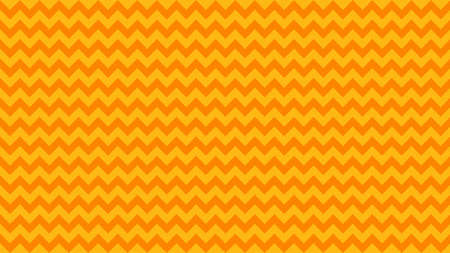 Illustration for serrated striped orange yellow color for background, art line shape zig zag orange color, wallpaper stroke line parallel wave triangle orange, image tracery chevron line triangle striped full frame - Royalty Free Image