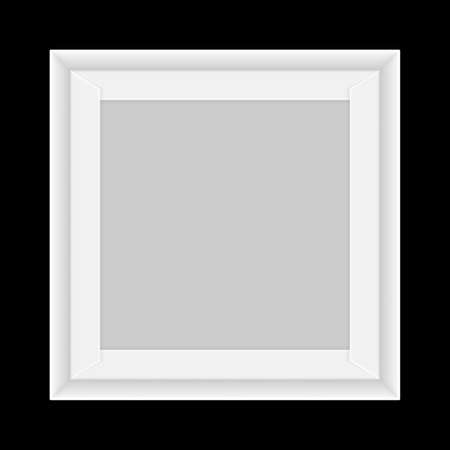 Illustration pour Square white Box tray open, Top view of white Box Tray isolated on black, Square Box White Packaging Template blank, Empty Box tray Template for design product and packaging paper kraft card board - image libre de droit