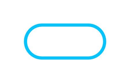 Illustration pour button square rounded corner, blue square button simple, icon square shape with corner curve and outline stroke - image libre de droit