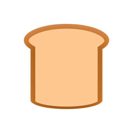 Illustration pour sliced bread icon isolated on white background, clip art bread piece sliced cut, illustration flat lay bread for foods graphic, bread sliced for logo and designs - image libre de droit