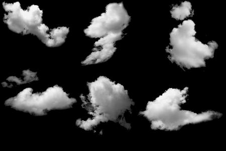 Photo pour White clouds on black - image libre de droit
