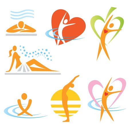 Photo for Set of health, sauna, spa icons. Vector illustration. - Royalty Free Image