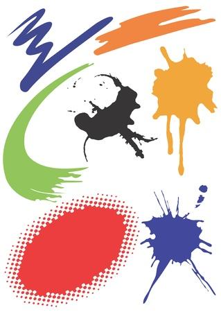 Illustration for Vector illustration with grunge design elements. Several grunge abstract design elements.Vector illustration. - Royalty Free Image