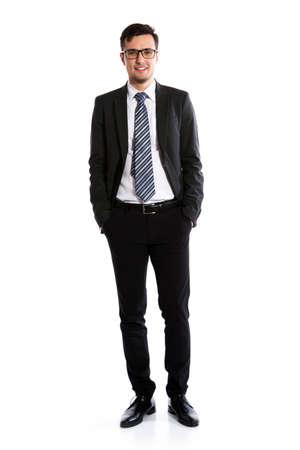 Foto de Young businessman on white background - Imagen libre de derechos
