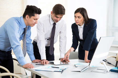 Photo for Business people working together in the modern office - Royalty Free Image