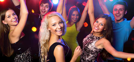 Photo for Young people having fun dancing at party. - Royalty Free Image