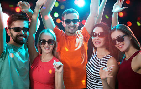 Photo for Group of happy young people having fun at party. - Royalty Free Image