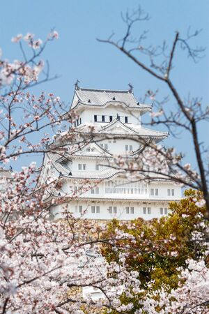 Photo for Himeji Castle, also called the white Heron castle, Japan. - Royalty Free Image