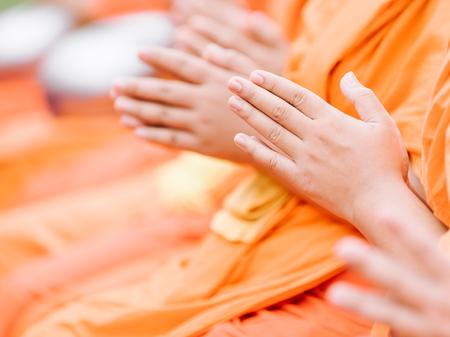Photo pour pray for faith in Buddhism - image libre de droit