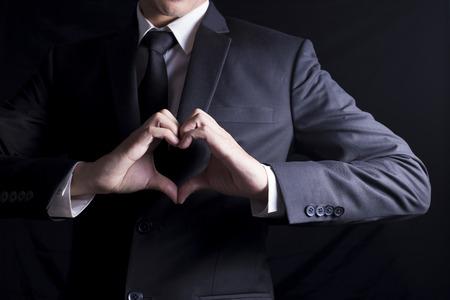 Foto de Businessman in Love - Imagen libre de derechos