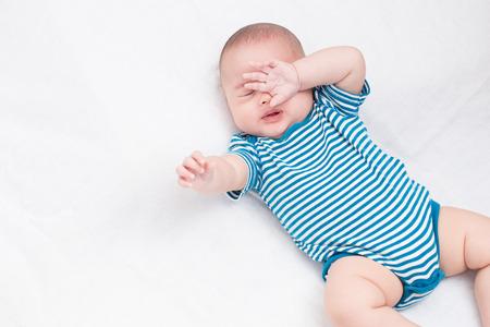 Photo pour Portrait adorable baby sleep - image libre de droit