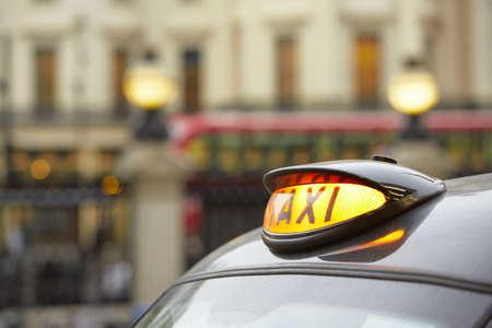 Taxi car in London - selective focus