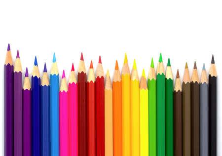 Foto de Color pencils isolated on white background.Close up - Imagen libre de derechos