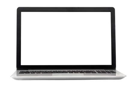 Foto de Laptop isolated on the white background - Imagen libre de derechos
