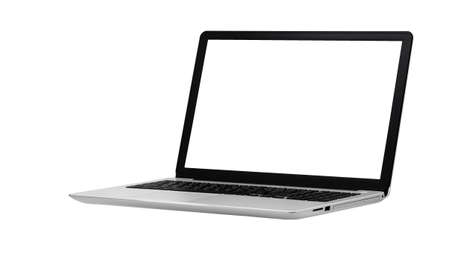 Photo for Laptop isolated on the white background with clipping path - Royalty Free Image
