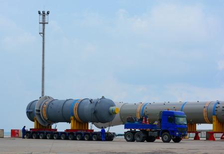 Transporting mega installation to refinery