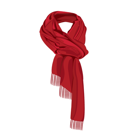 red striped scarf isolated
