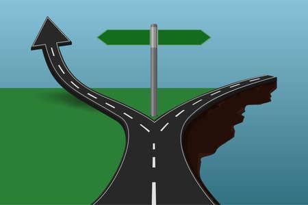 Vektor für Choose the correct or incorrect way concept. - Lizenzfreies Bild