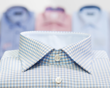 fashion man business shirt in clothing store