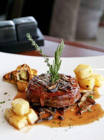 Medium cooked roast beef