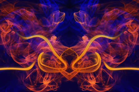 Abstract Background With Colored Elements Orange And Blue