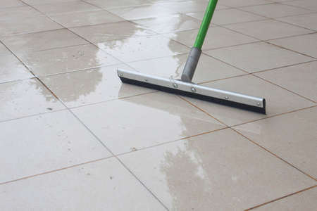 show cleaning on floor
