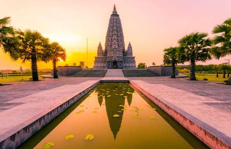 Photo for Bodh Gaya Pagoda at Panya nan tharam templa in Pratumthani, Thailand - Royalty Free Image
