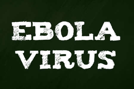 Blackboard with message ebola virus