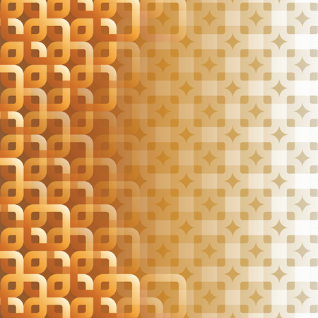 The gold square abstract for background texture.