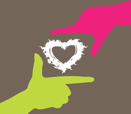 Photo pour human hands caring heart, symbol of love - image libre de droit