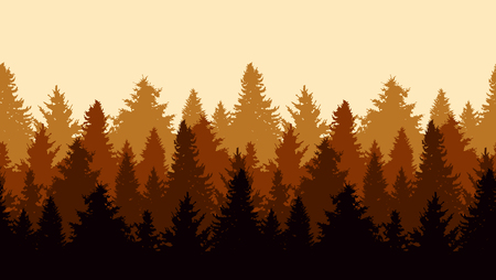 Illustration pour Elegant seamless pattern with fir trees, design elements. Forest pattern for invitations, cards, print, gift wrap, manufacturing, textile, fabric, wallpapers. Nature theme - image libre de droit