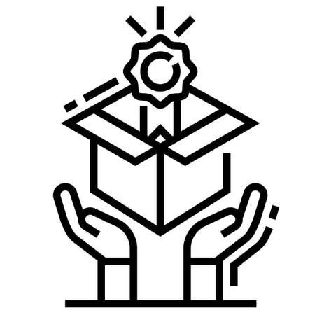 Value vector illustration in line stroke design