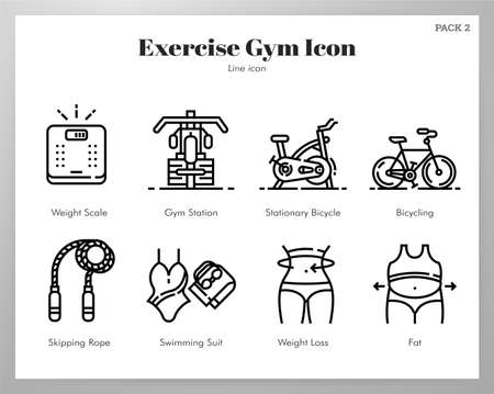 Exercise gym vector illustration in line stroke design