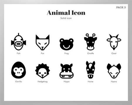 Animal vector illustration in solid color design