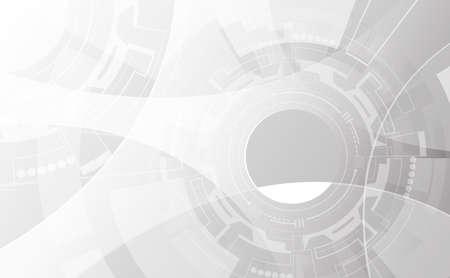 Photo pour Grey wheel geometric technology background with gear shape. Vector abstract graphic design - image libre de droit