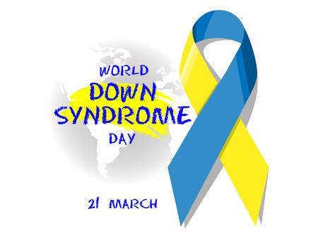 Illustration pour World Down Syndrome Day - image libre de droit