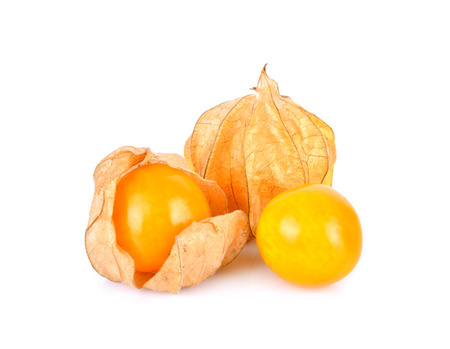 Foto per Cape Gooseberry on a white background - Immagine Royalty Free