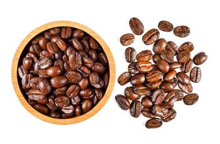 Photo pour coffee bean isolated on white background - image libre de droit