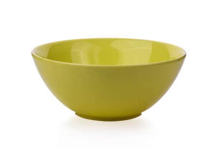 Photo pour Yellow bowl isolated on white background - image libre de droit