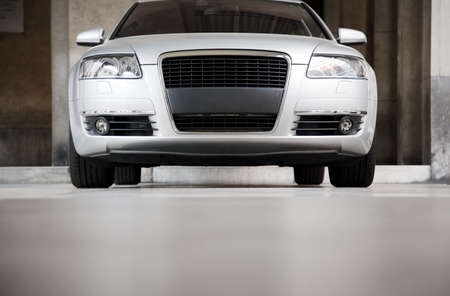 High-powered modern car front view.