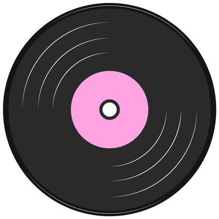 Illustration pour Vector graphics, music record. Flat design. - image libre de droit