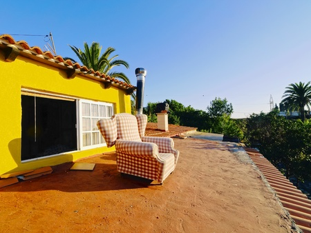 Armchair on the roof - time for relax on Canary Islands, Spain